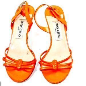 Jimmy Choo Heels in Orange Crush